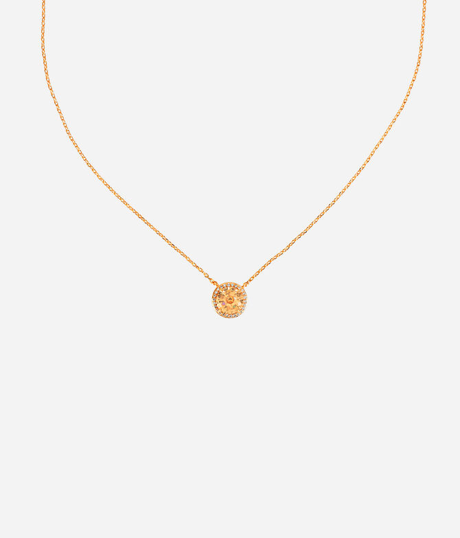 Luxe Pave Halo Pendant
