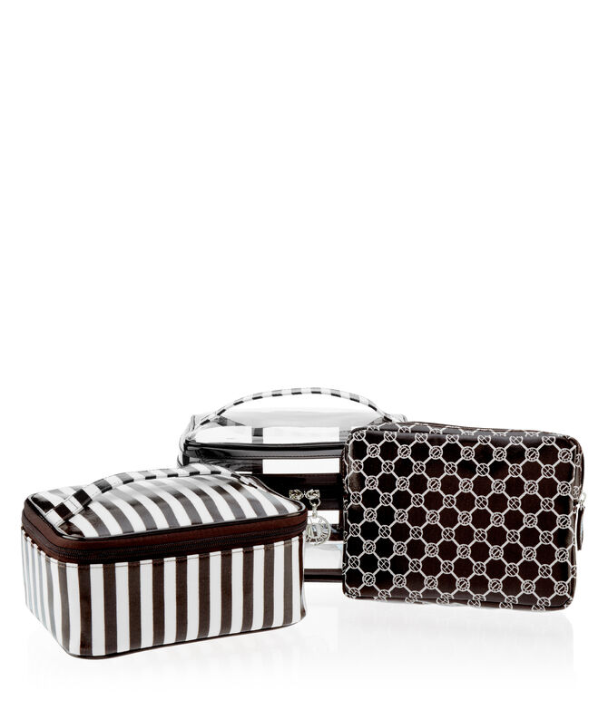 Brown & White 3 Piece Travel Set