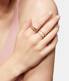 Luxe Semi Barrel Stack Ring