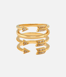 Luxe Arrow Charm Stack Rings