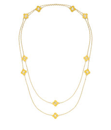 Petal Station Long Necklace