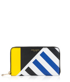 West 57th Stripe Zip Around Continental Wallet