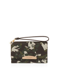 West 57th Floral Camouflage Phone Wristlet