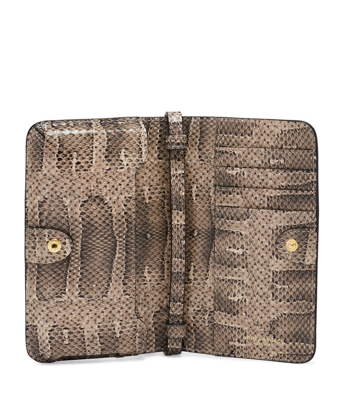 West 57th Snake Embossed XL Smartphone Case Crossbody