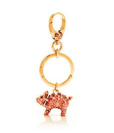 Henrietta Pig Crystal Key Fob