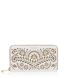 West 57th Paisley Zip Around Continental Wallet