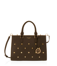 West 57th Studded Small Turnlock Satchel