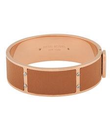 Leather Inlay Bangle
