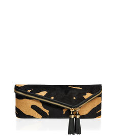 Debutante Slim Haircalf Clutch