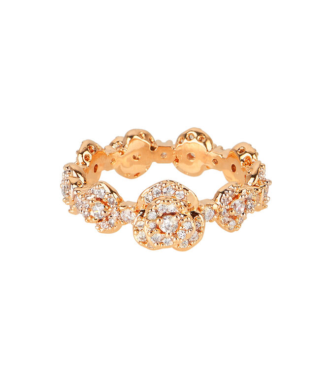 Luxe Rose Bouquet Band Ring