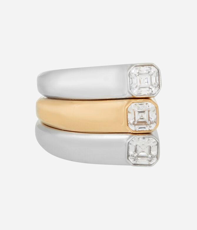 Luxe Modern Asscher Stack Ring