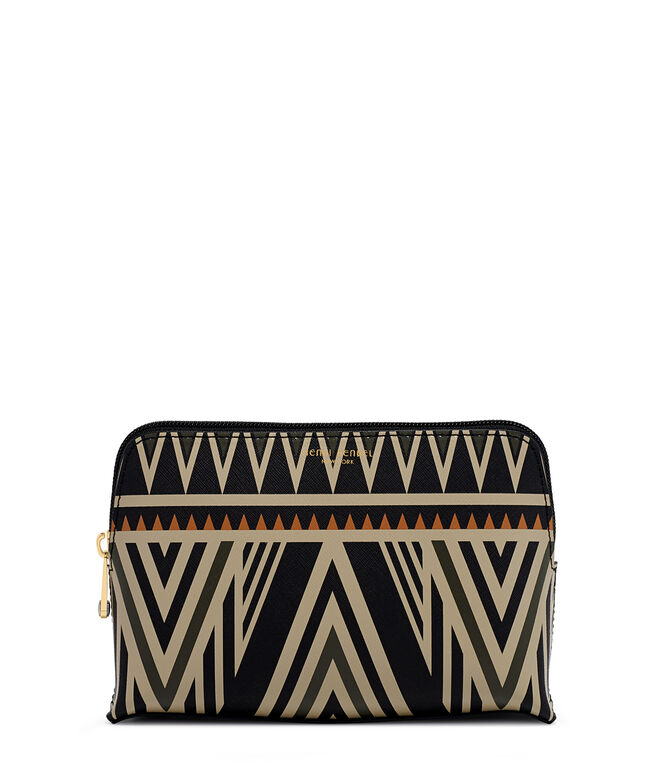 West 57th Geo Tribal Print Cosmetic Case