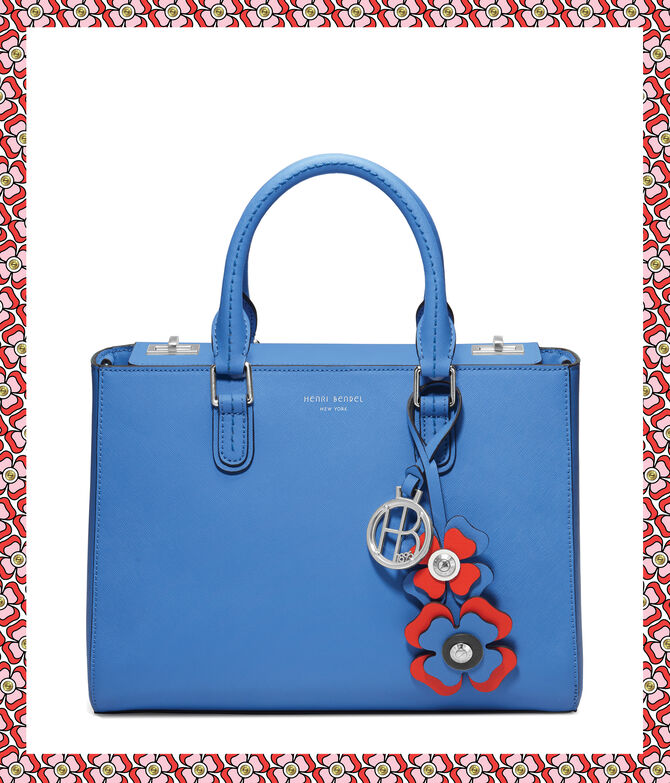 West 57th Bouquet Turnlock Satchel with Petal Charm