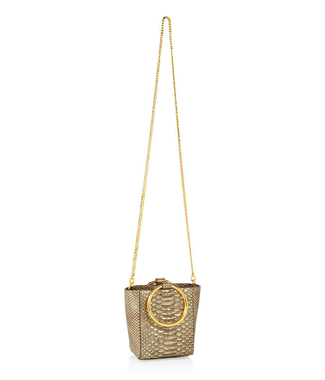 Marquis Micro Snake Embossed Tote