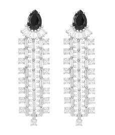 Henri Bendel Tuxedo Chandelier Earrings