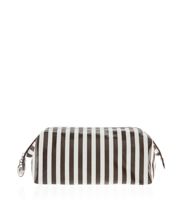 Brown & White Dopp Kit