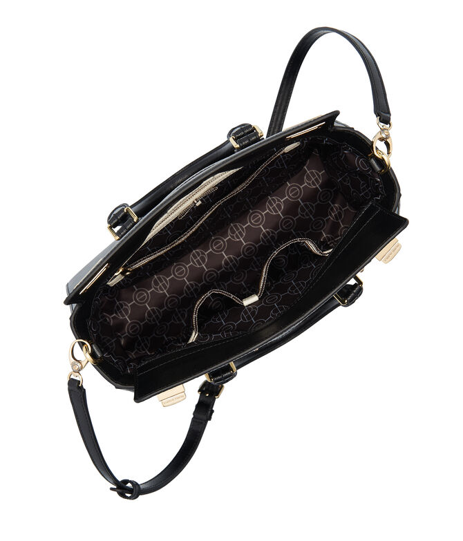 West 57th Applique Small Turnlock Satchel