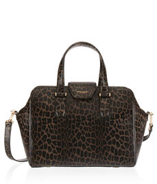 Houston Leopard Satchel