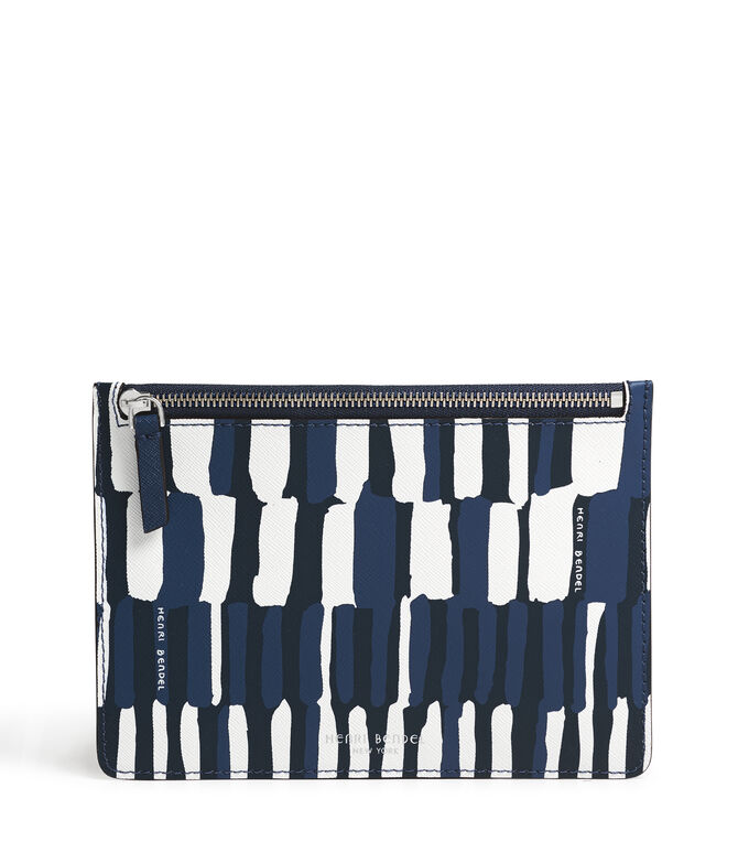 West 57th Watercolor Stripe Kangaroo Pouch