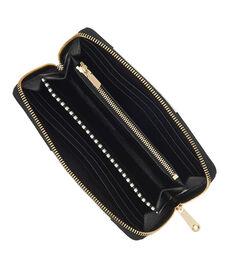 No. 7 Brown & White Patchwork Zip Around Continental Wallet