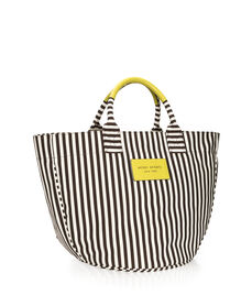 Signature Stripe Round Canvas Tote
