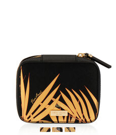 West 57th Palm Leaf Travel Jewelry Case