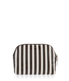 Brown & White Dome T Gusset Cosmetic Bag