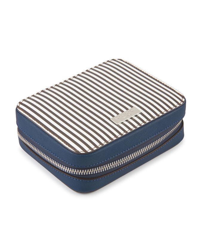 Centennial Stripe Color Blocked Travel Jewelry Case