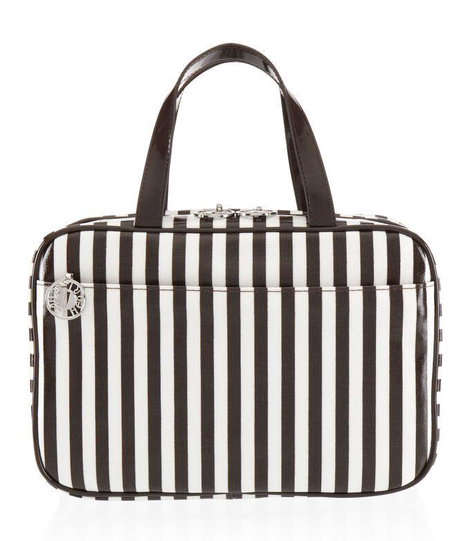 Brown & White Large Hanging Weekender Bag