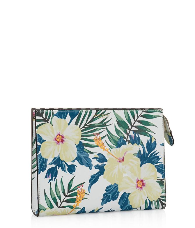 West 57th Floral Print Cosmetic Clutch