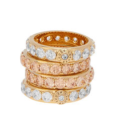 Luxe Chunky Crystal Band Ring