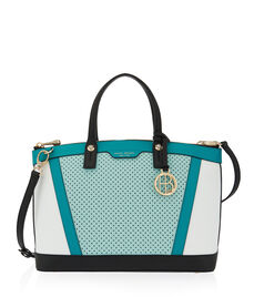 West 57th Blocked Perforated Satchel