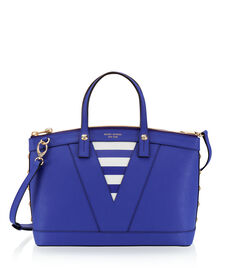 West 57th Stripe Studded Satchel