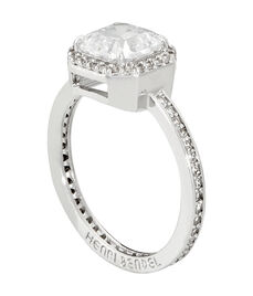 Luxe Asscher Cut Pave Ring