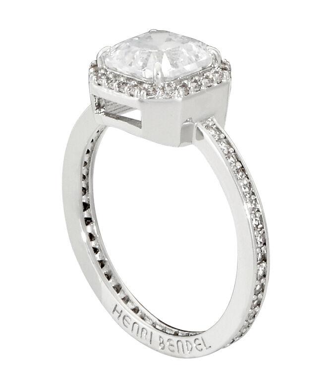 Luxe Asscher Cut Pave Ring