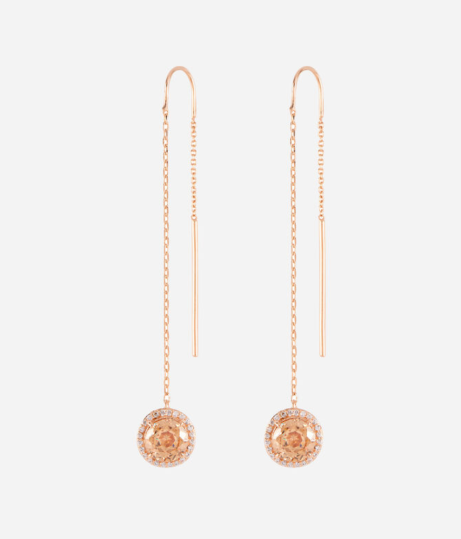 Luxe Pave Halo Linear Earring