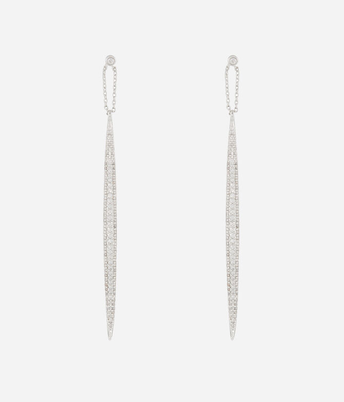 Luxe Pave Quill Linear Earring