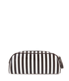 Brown & White Double Zip Dopp Kit