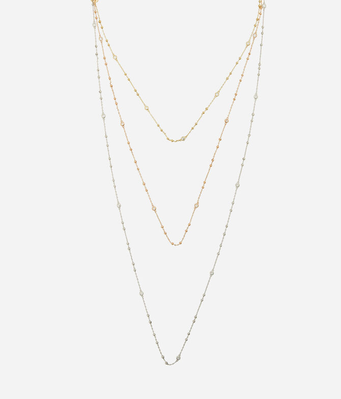 Luxe Uptown Tri Tone Necklace