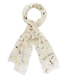 Splatter Paint Oblong Scarf