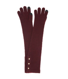Henri Bendel Cashmere Long Gloves