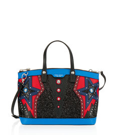 West 57th Applique Satchel