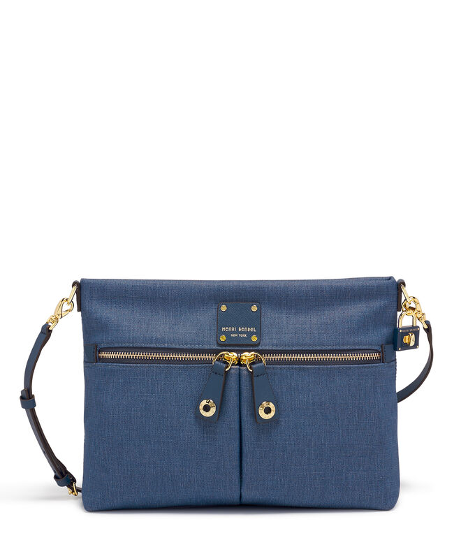 Jetsetter Convertible Denim Messenger