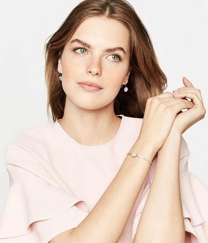 Luxe Pave Halo Slider Bracelet