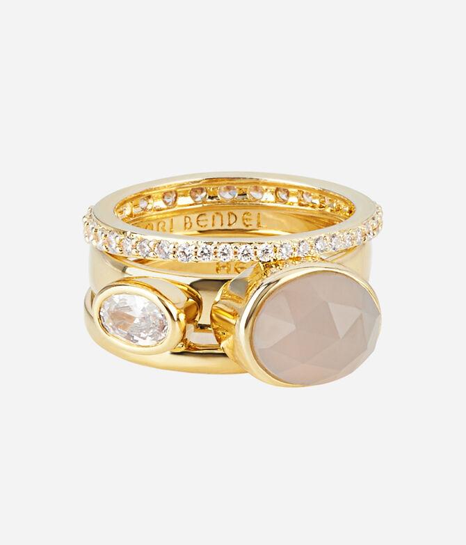 Luxe Bali Semi Precious Stack Ring