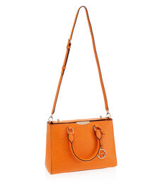 West 57th Croco Small Turnlock Satchel
