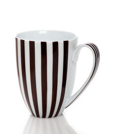 Brown & White Stripe Mug