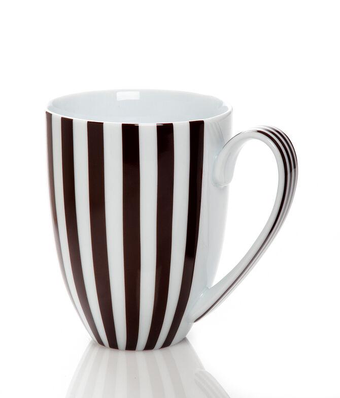 Brown & White Stripe Mug