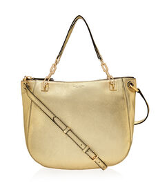 Soho Metallic Crossbody Hobo