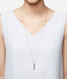 Luxe Semi Long Barrel Necklace
